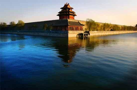 故宫角楼护城河图片-北京旅游景点图片,北京旅游指南