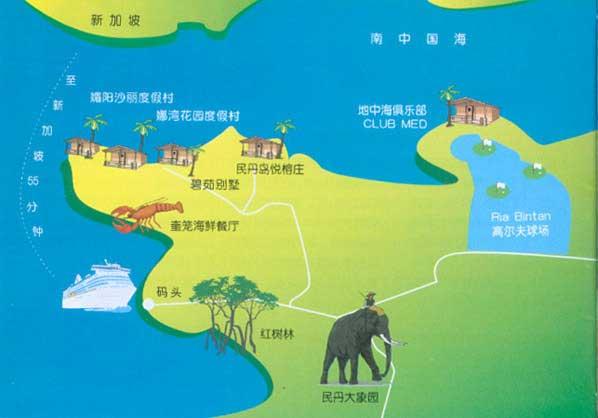 民丹岛旅游地图-目的地指南