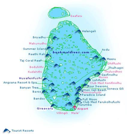 马尔代夫旅游地图