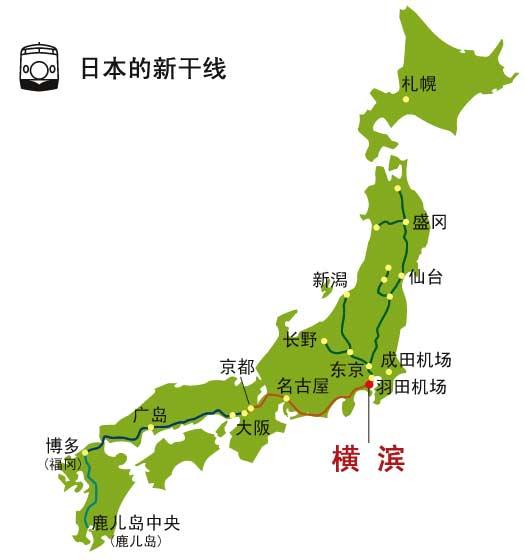 日本旅游地图-目的地指南