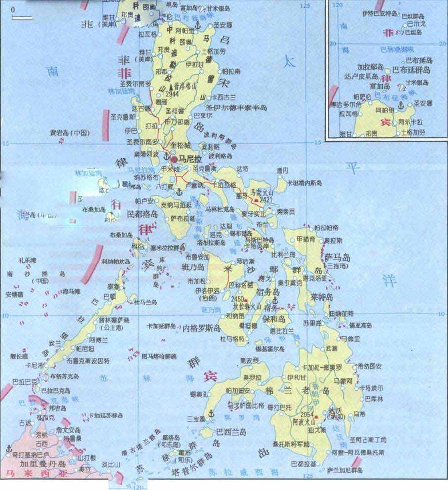 菲律宾旅游地图
