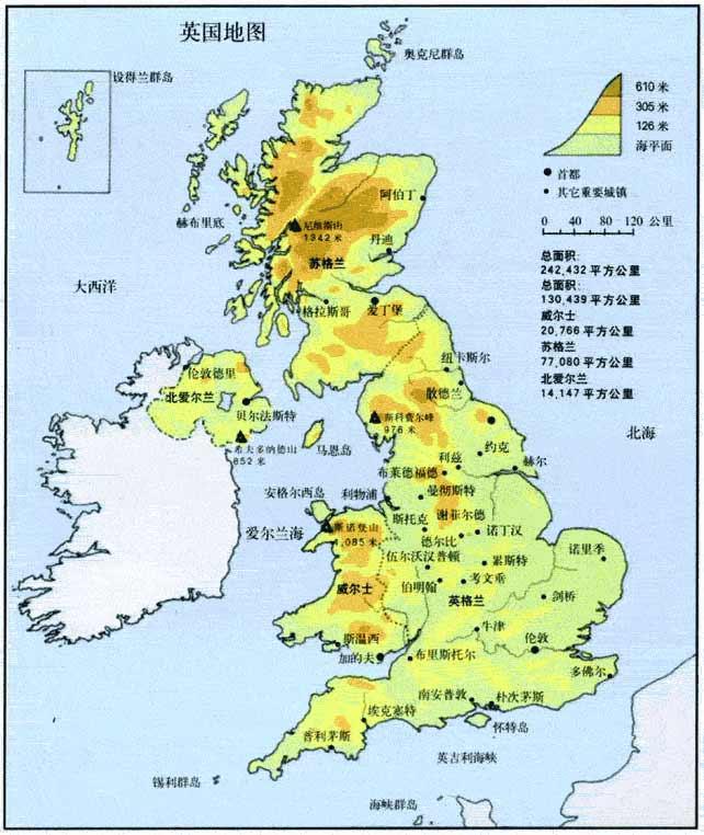 英国旅游地图