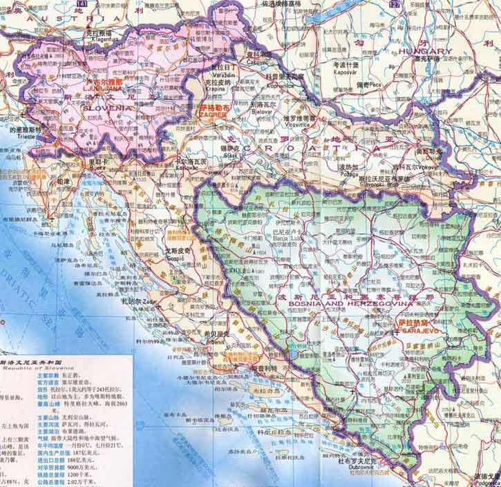 克罗地亚旅游地图-目的地指南