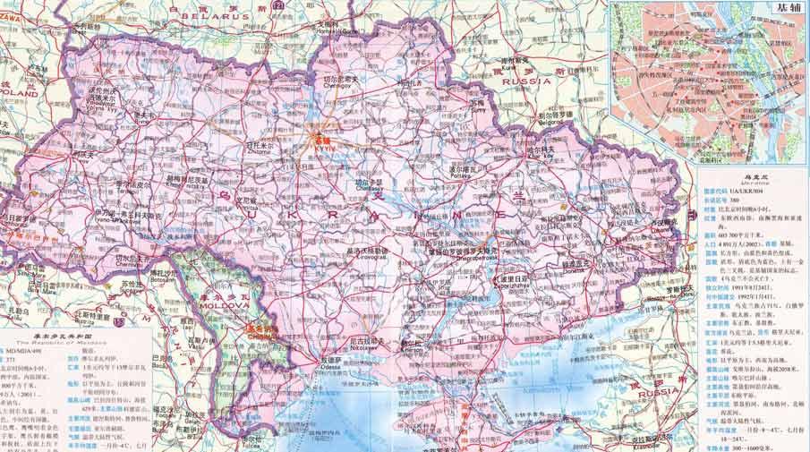 乌克兰旅游地图