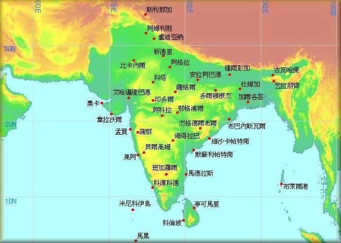 斯里兰卡旅游地图