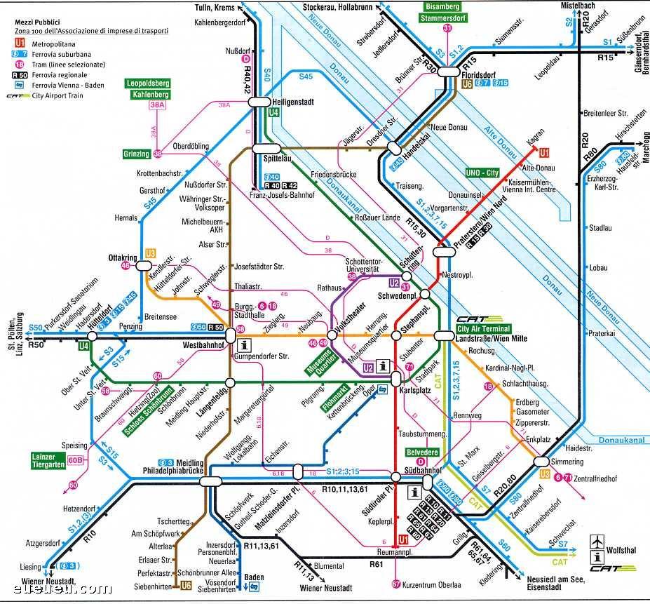维也纳旅游地图