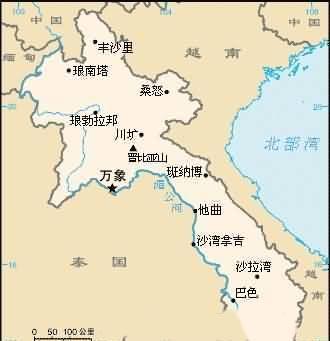 老挝旅游地图-目的地指南