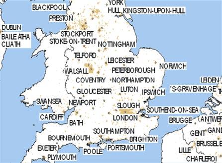 英国旅游景点地图展示