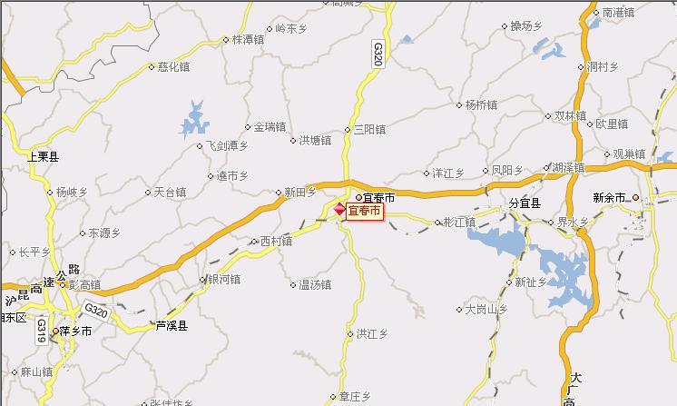 江西宜春地图宜春市地图宜春地图江西省宜春市地图