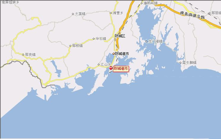 防城港旅游地图-目的地指南图片