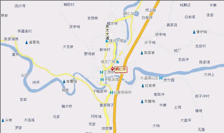 铜仁地区地图图片下载