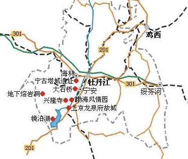 牡丹江旅游地图-目的地指南