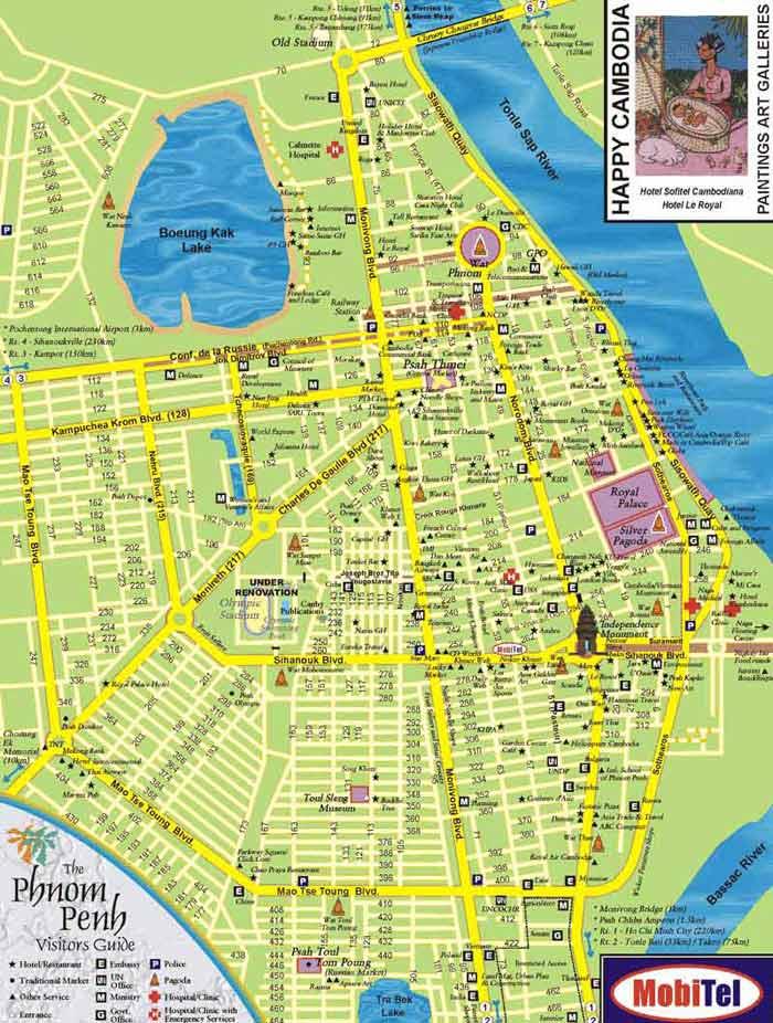 金边旅游地图-目的地指南