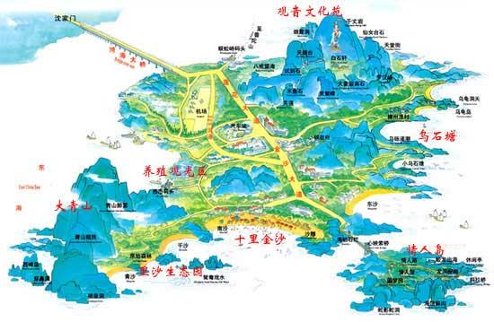 朱家尖旅游地图