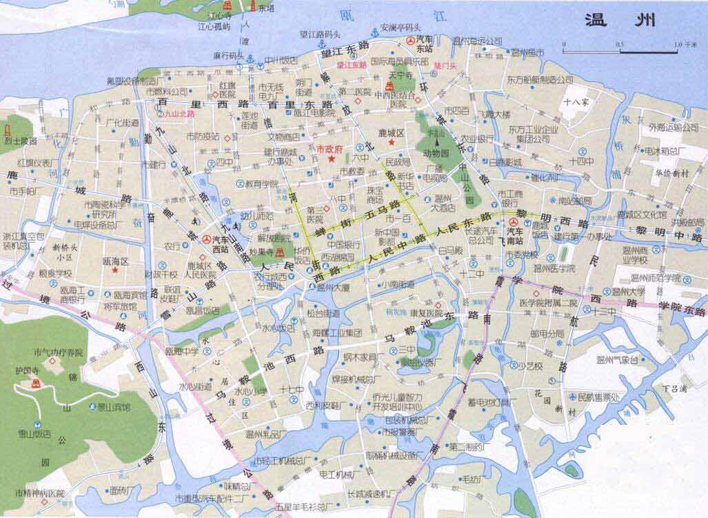温州旅游地图-目的地指南