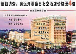 奥运酒店价格悄悄下降25日26日将成分水岭(图)